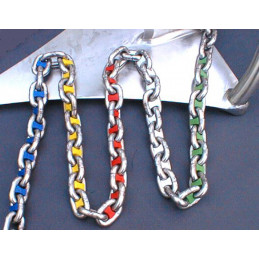 Marqueur de chaîne de différentes couleurs